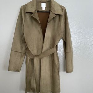 H&M suede Trench Coat